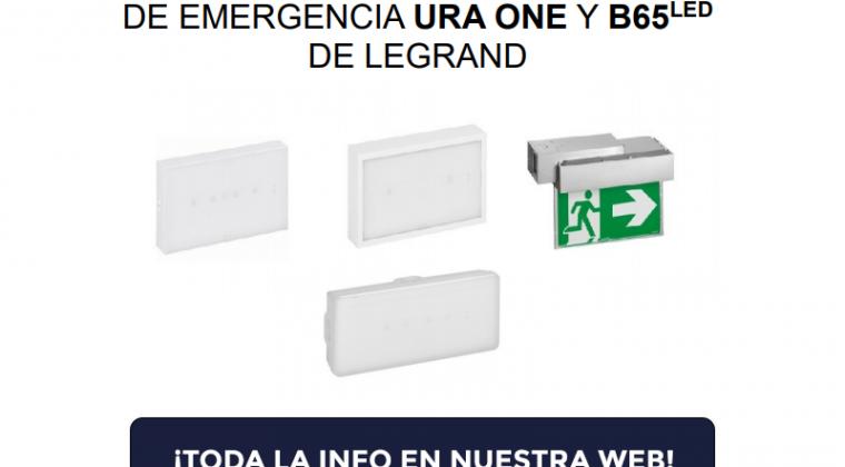 Legrand amplía las gamas de luminarias de emergencia URA ONE y B65LED con la incorporación de 20 nuevas referencias