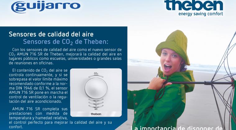 Nuevos sensores de calidad del aire CO2 de Theben