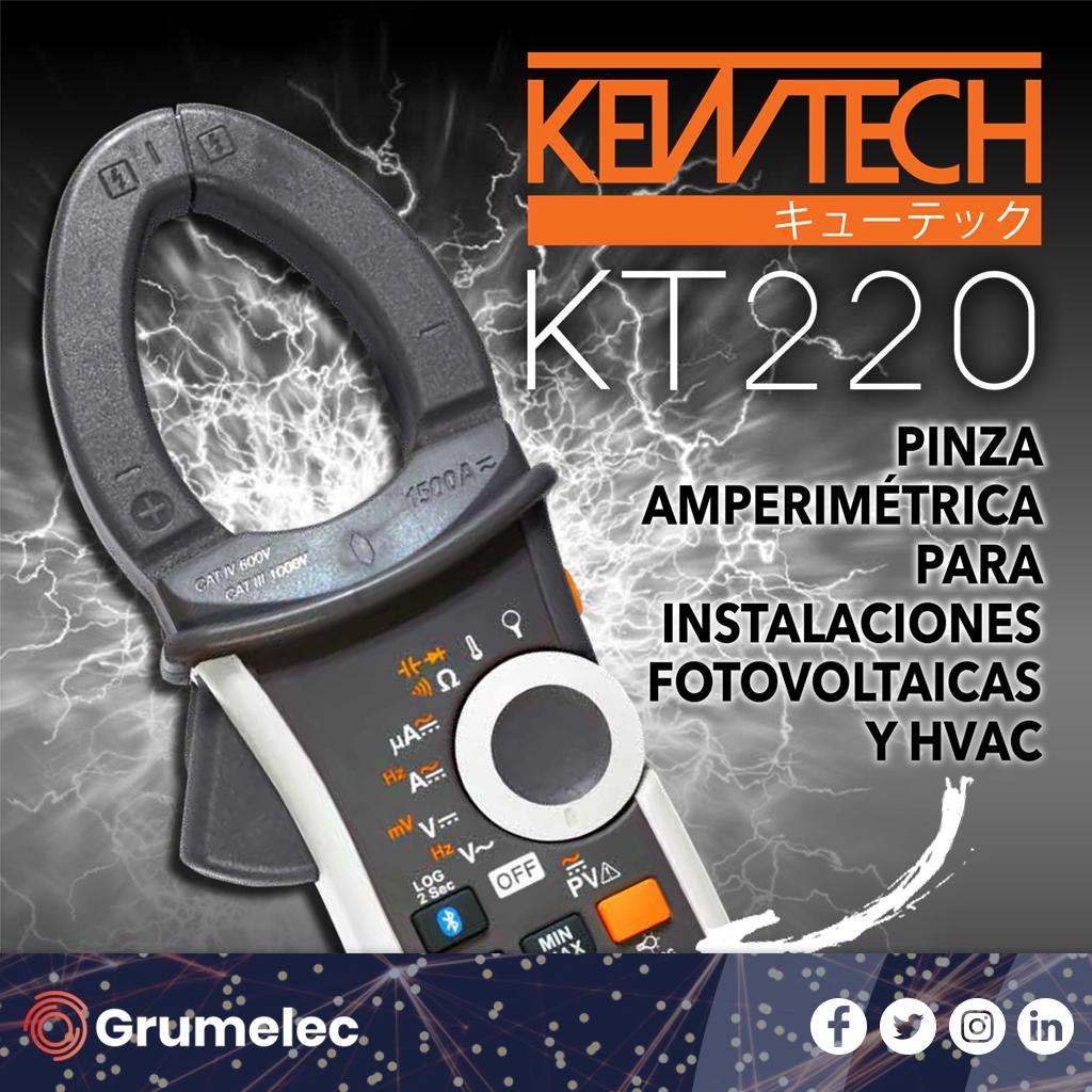 Guijarro Hermanos presenta su nueva pinza amperimétrica KT220 para instalaciones Fotovoltaicas y HVAC