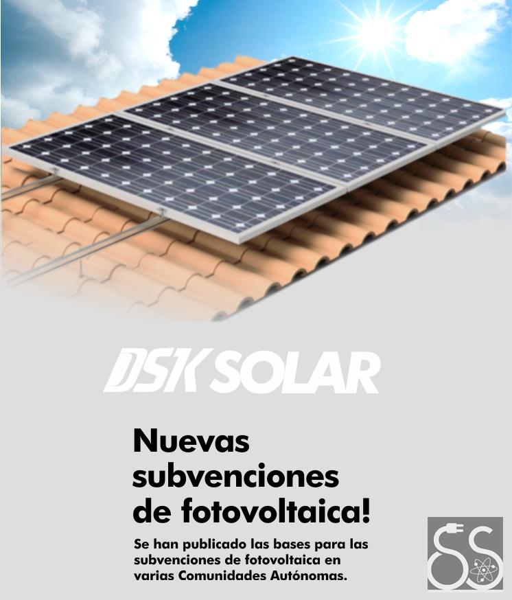 Instalaciones solares subvencionadas con DSK Solar ¡Nuevas  subvenciones ya disponibles!