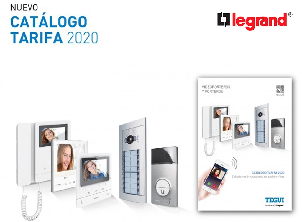 Nuevo catálogo-tarifa Tegui de porteros y videoporteros de Grupo  Legrand