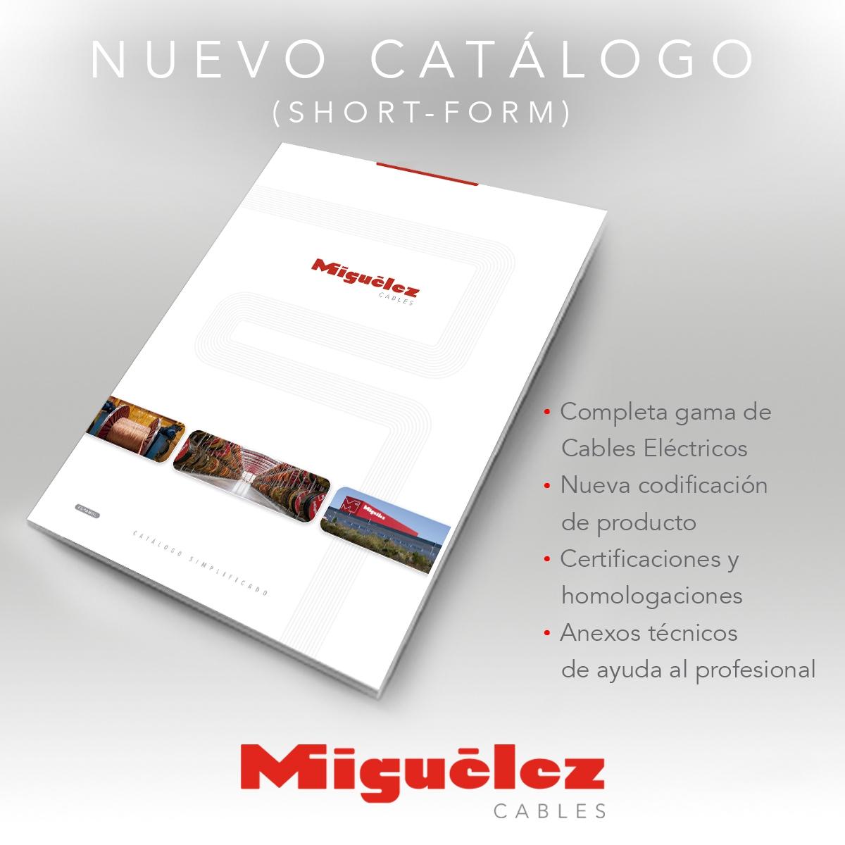 """Miguélez cables lanza el nuevo catálogo """"short-form"""""""