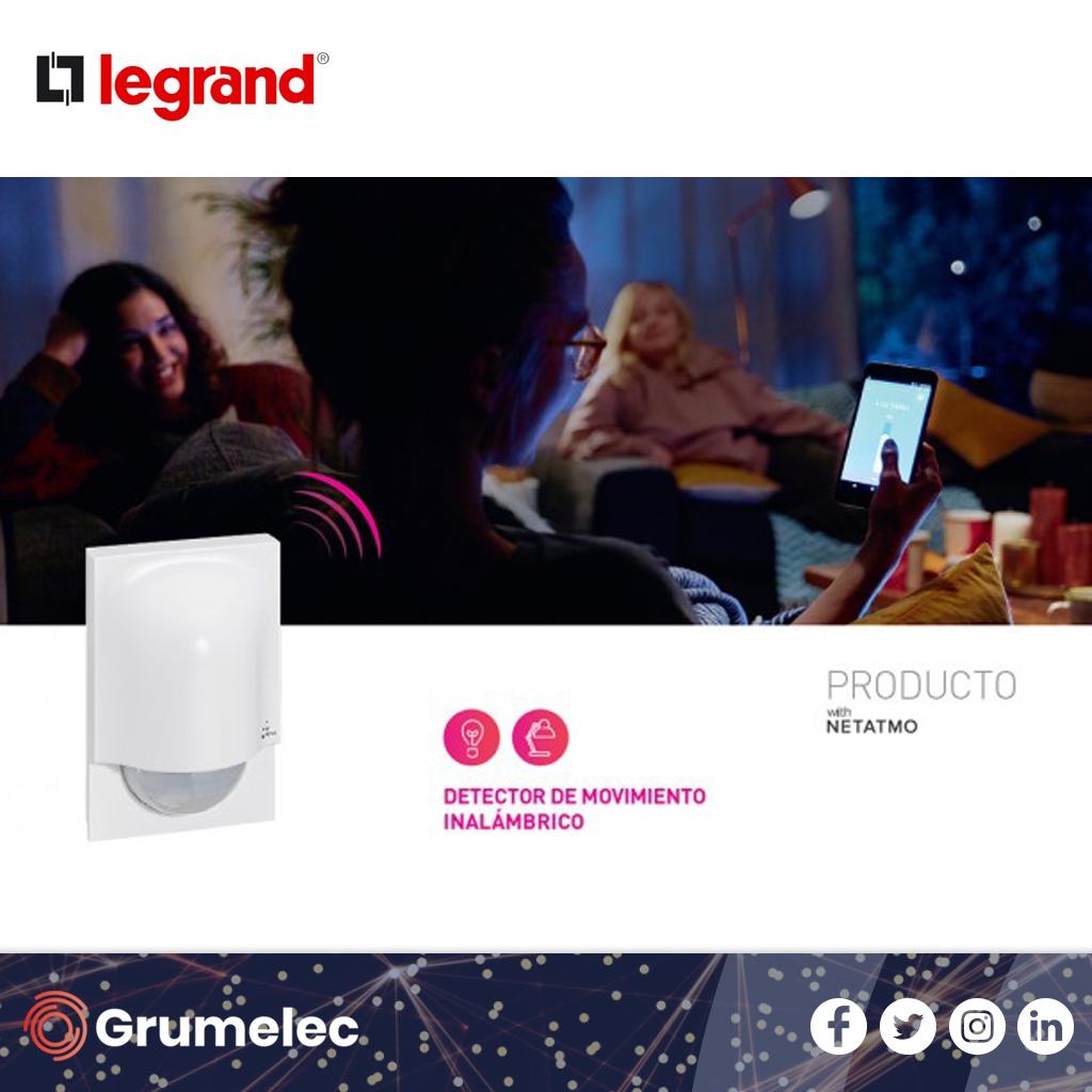Legrand Group presenta el detector de movimiento inalámbrico.